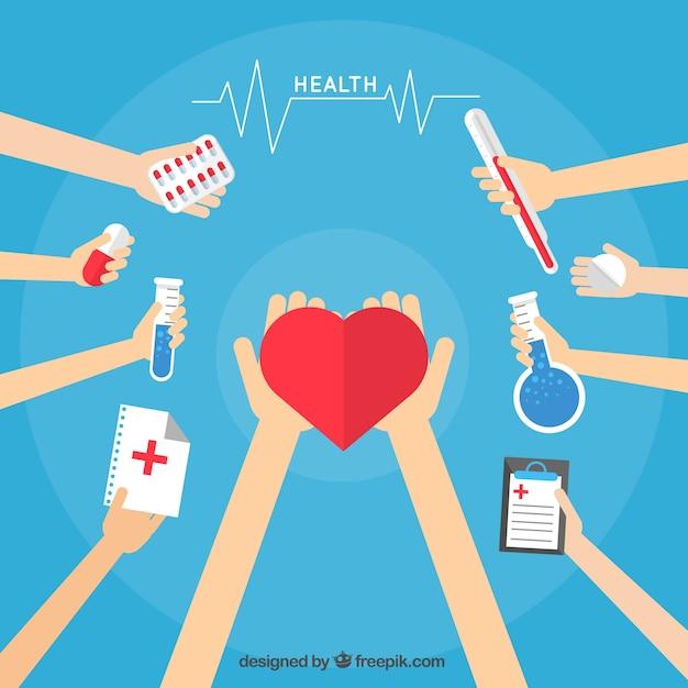 Gezondheidszorg cartoons Gratis Vector