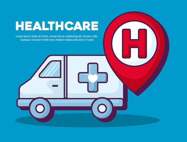 Gezondheidszorg concept Gratis Vector