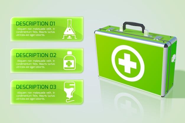 Gezondheidszorg infographic concept Gratis Vector