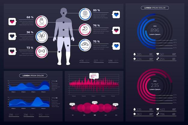 Gezondheidszorg medische infographic Gratis Vector