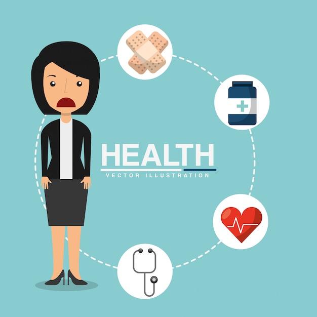 Gezondheidszorg ontwerp Gratis Vector