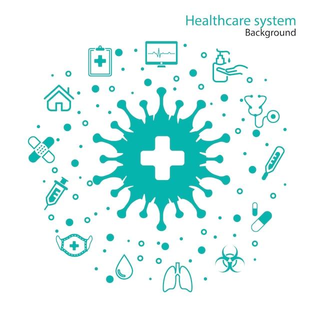 Gezondheidszorg systeem Gratis Vector
