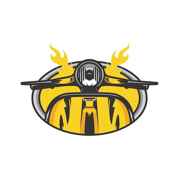 Ghost Rider Schedel Road Biker Vector Mascotte Illustratie Vector