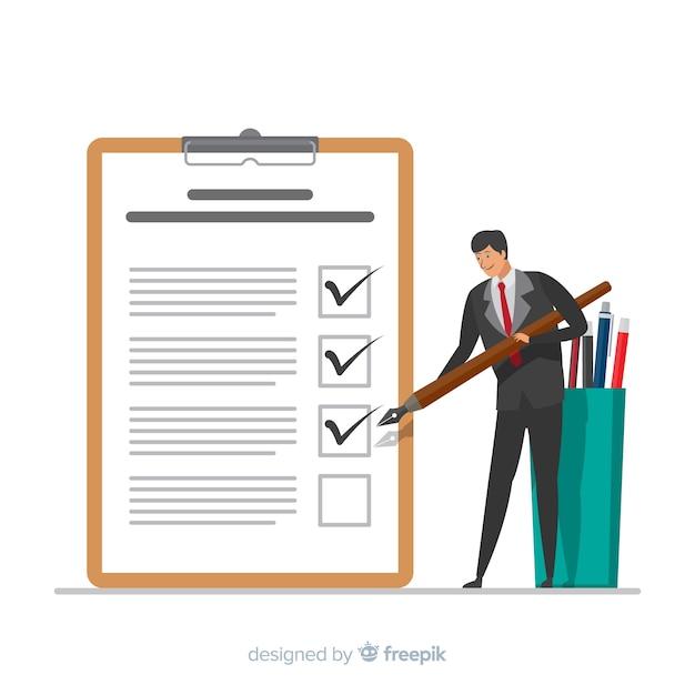 Gigantische checklist Gratis Vector