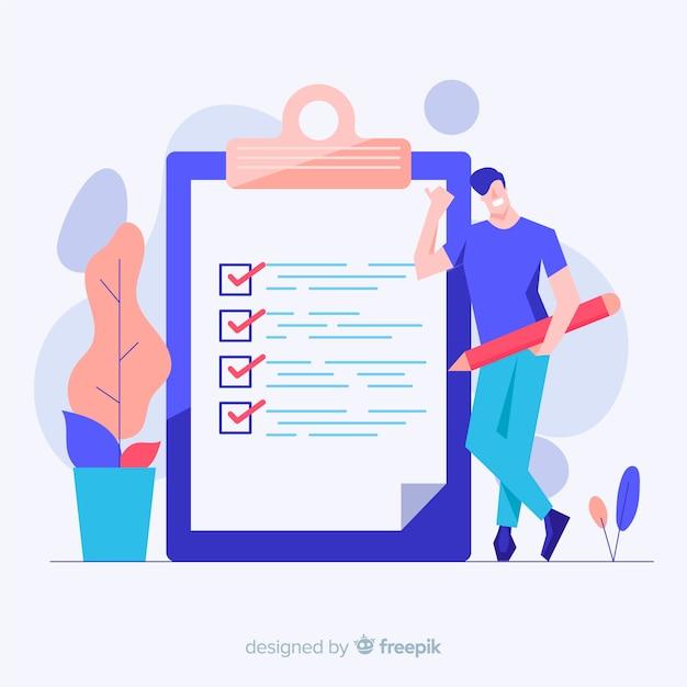 Gigantische checklist Premium Vector