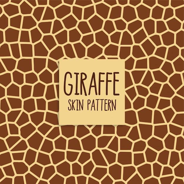 Giraffe huidpatroon in bruine kleur Gratis Vector