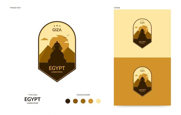 Giza badge sjabloon Premium Vector