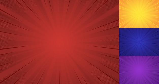 Glans ray halftone achtergrond Premium Vector