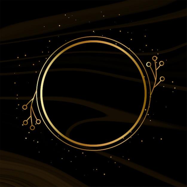 Glanzend gouden frame met fonkelingen Gratis Vector