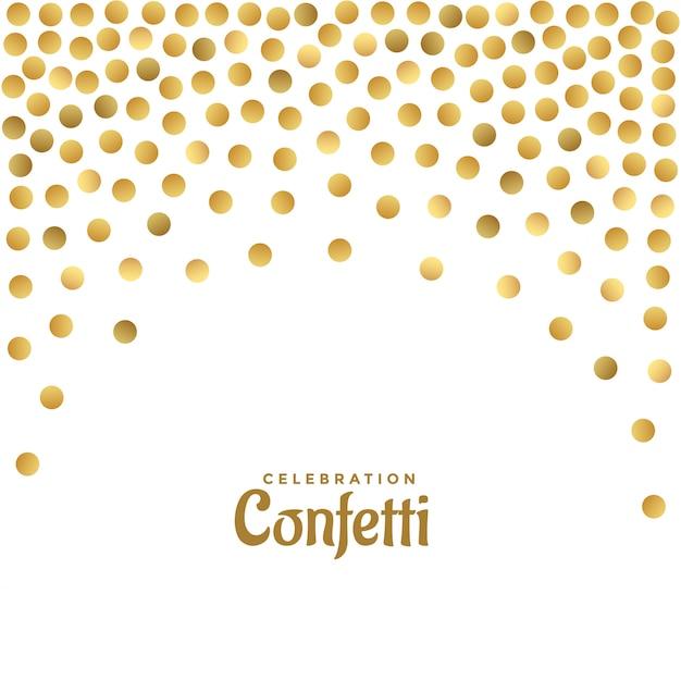 Glanzende gouden glitter polka achtergrond Gratis Vector