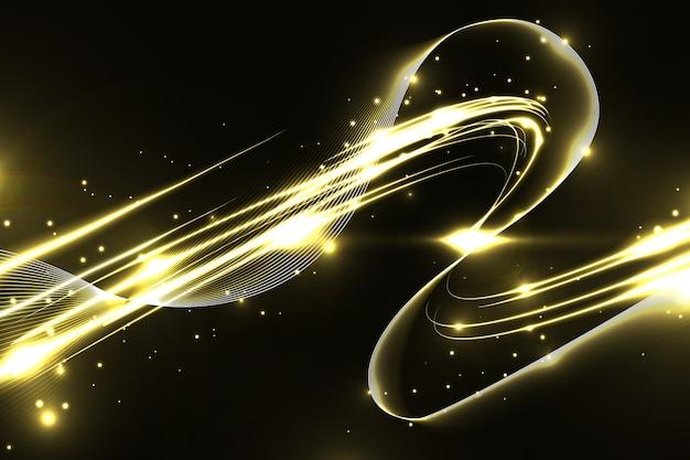 Glanzende gouden golfachtergrond Gratis Vector