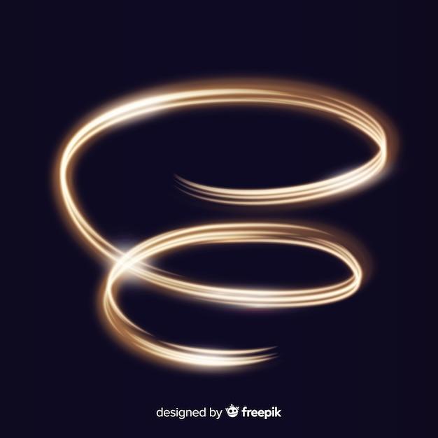 Glanzende gouden spiraal realistische stijl Gratis Vector