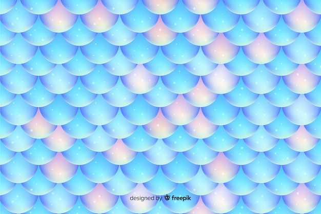 Glanzende holografische zeemeerminstaartachtergrond Gratis Vector