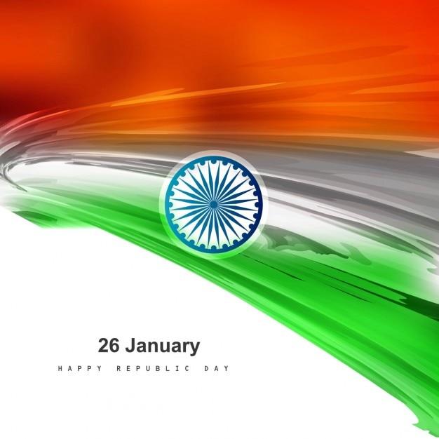 Glanzende indiase vlag achtergrond Gratis Vector