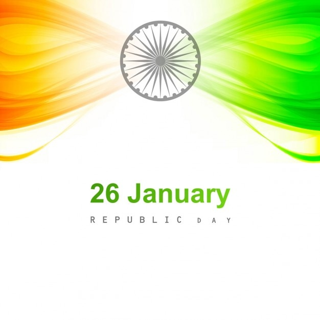 Glanzende indiase vlag kaart Gratis Vector