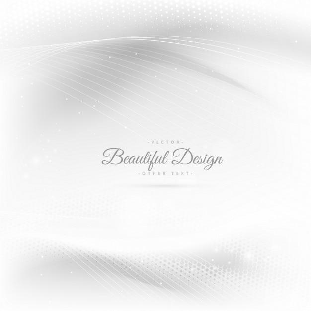 Glanzende mooie golven in een witte achtergrond Gratis Vector