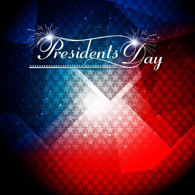 Glanzende presidents dag achtergrond Gratis Vector
