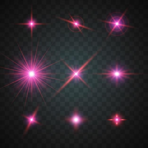 Glanzende sterren collectie Gratis Vector