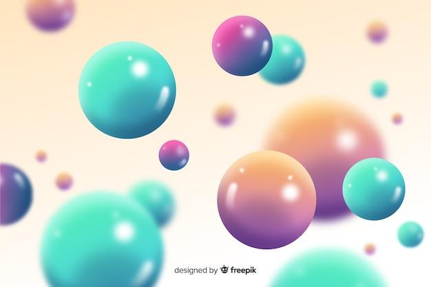 Glanzende vloeiende bollen achtergrond Gratis Vector