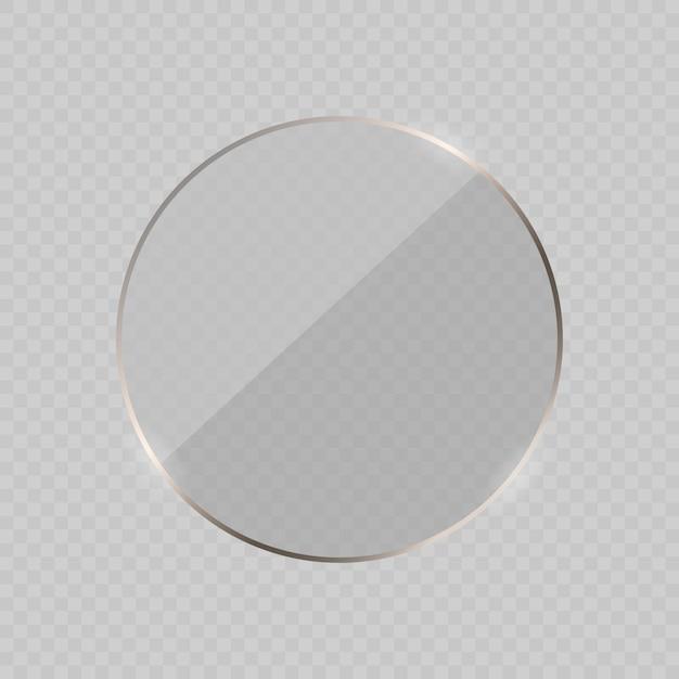 Glare glazen frame achtergrond. illustratie Premium Vector