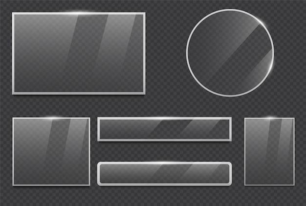 Glazen lijst realistisch Premium Vector