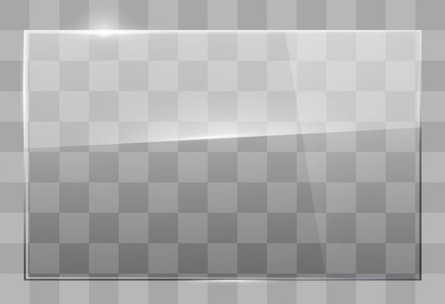 Glazen plaat aan de muur Premium Vector