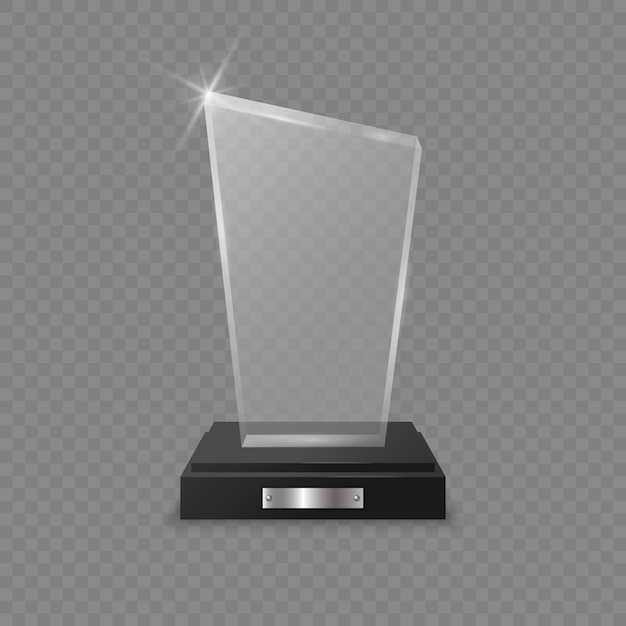 Glazen trofee award Premium Vector