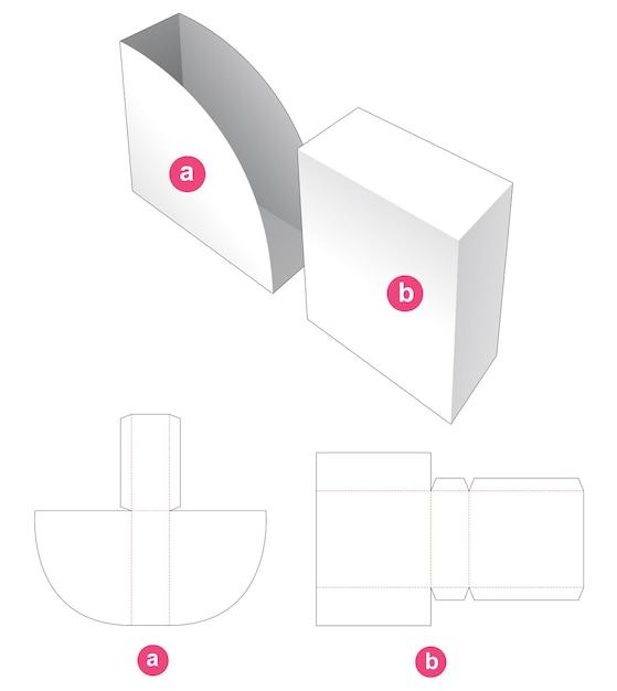 Glijdende verpakking gestanst sjabloon Premium Vector