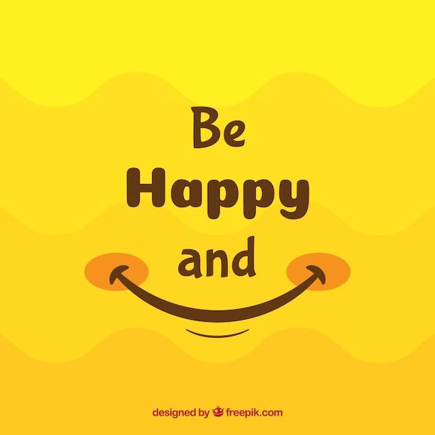 Glimlach achtergrond in gele tinten Gratis Vector