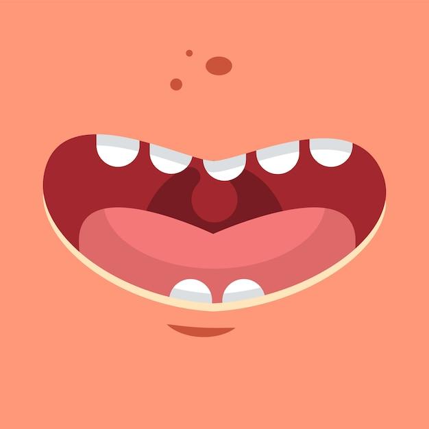 Glimlach vector cartoon vlakke afbeelding. Premium Vector