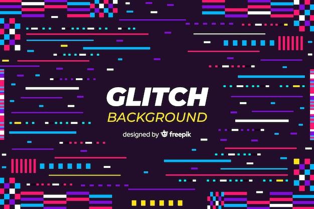Glitch achtergrond Gratis Vector