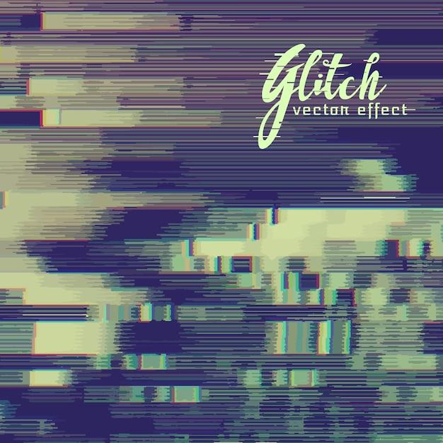 Glitch effect achtergrond met vervorming Gratis Vector