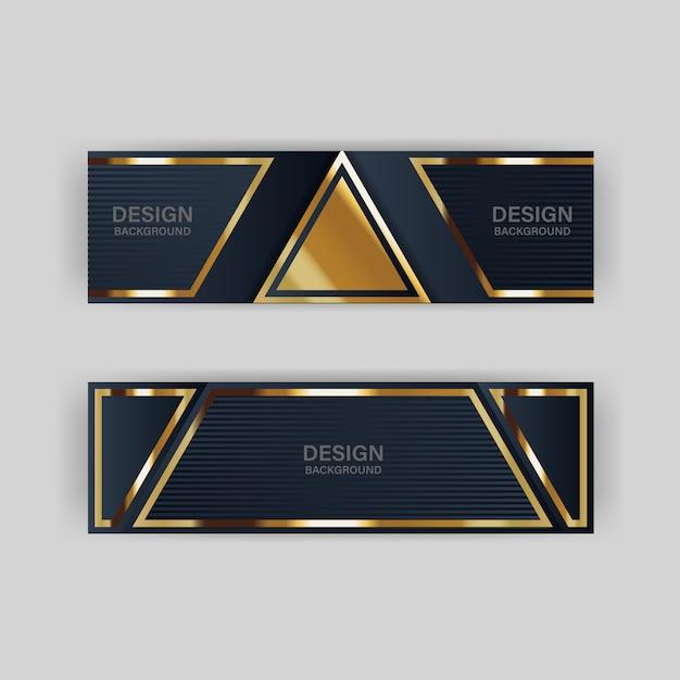 Glitter achtergrondlicht met abstracte kleur moderne technologie banner goud Premium Vector