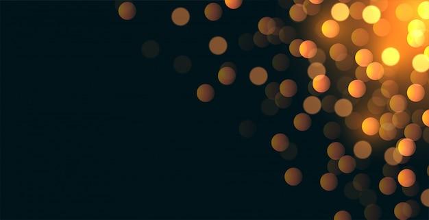 Glitterbokeh achtergrond met ruimte tekstgebied Gratis Vector