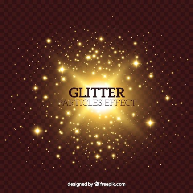 Glitterdeeltjeseffect Gratis Vector
