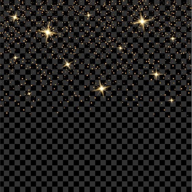 Gloed lichteffect sterren barst met sparkles. Premium Vector