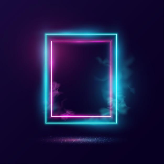 Gloeiend neonverlichtingsframe. Premium Vector