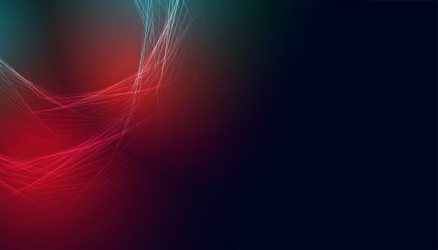 Gloeiende abstracte banner met rode en blauwe lichten Gratis Vector