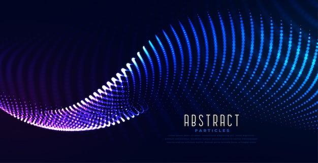 Gloeiende digitale digitale de technologieachtergrond van de deeltjesgolf Gratis Vector