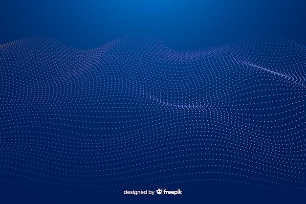 Gloeiende fractal grid golf achtergrond Gratis Vector