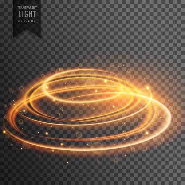 Gloeiende lens flare transparant lichteffect met glitters Gratis Vector