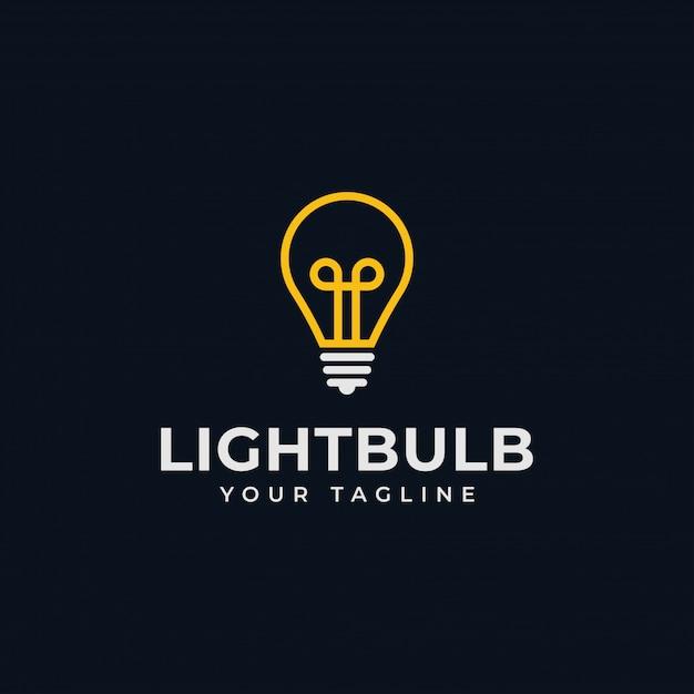 Gloeilamp, idee, creatief, innovatie, energie logo ontwerp Premium Vector