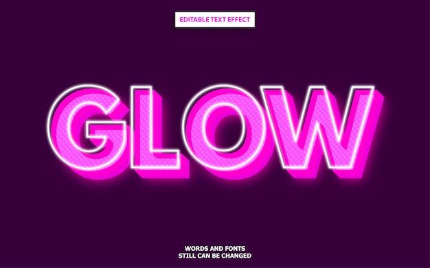Glow lettertype-effect Premium Vector