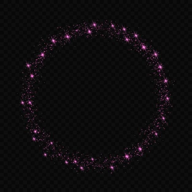 Glow lichteffect sterren barst met sparkles geïsoleerd Premium Vector