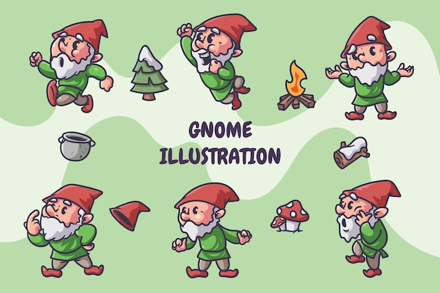 Gnome illustratie Premium Vector