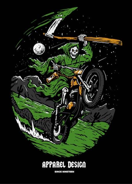 Goblin ride motor cross illustratie Premium Vector