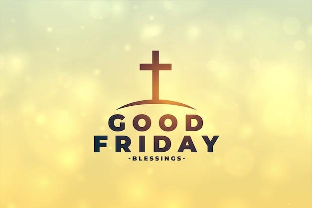 Goede vrijdag concept achtergrond met kruis symbool Gratis Vector