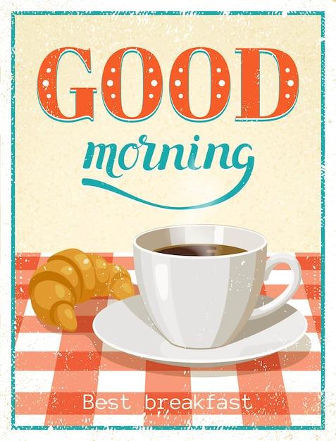 Goedemorgen poster Gratis Vector