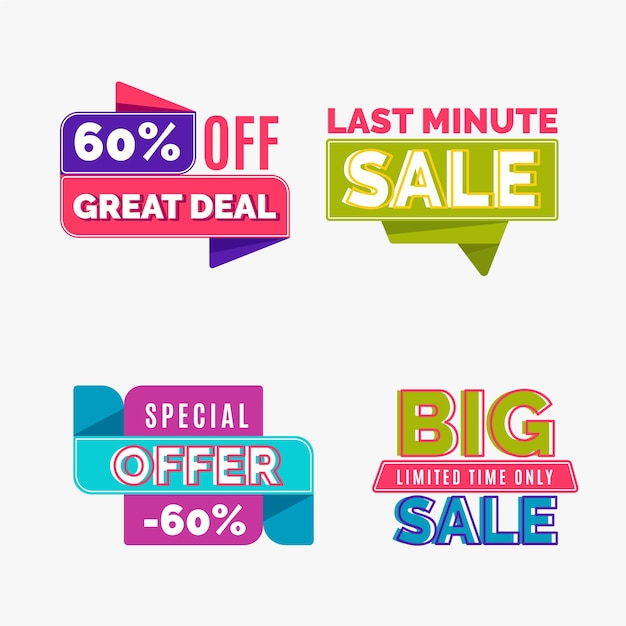 Goedkoop winkelen verkoop banner collectie Premium Vector