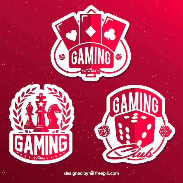 Gokken icon collectie met platte ontwerp Gratis Vector